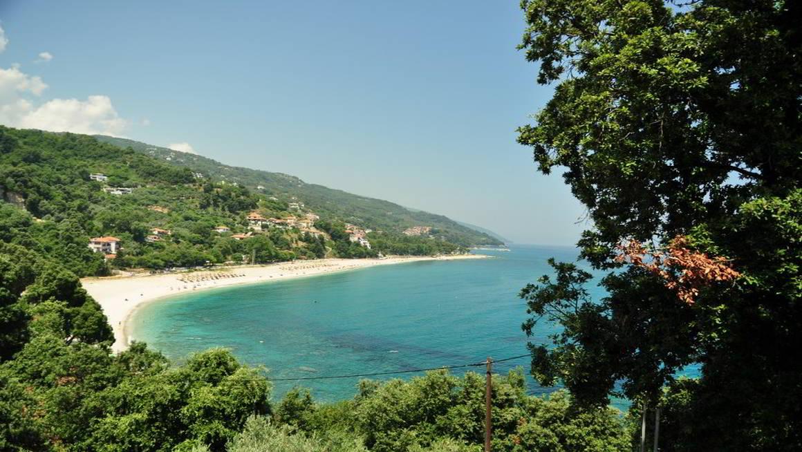 Beach of Papa Nero in Agios Ioannis Pelion Greece