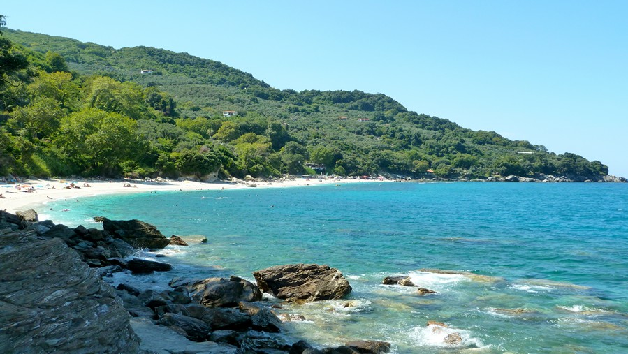 Beach of Plaka in Agios Ioannis Pelion Greece