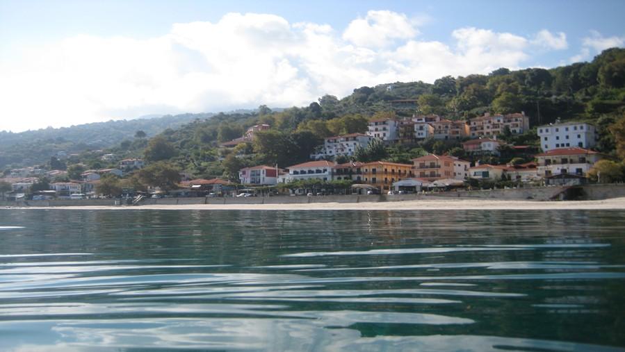 Beach of Agios Ioannis in Pelion Greece