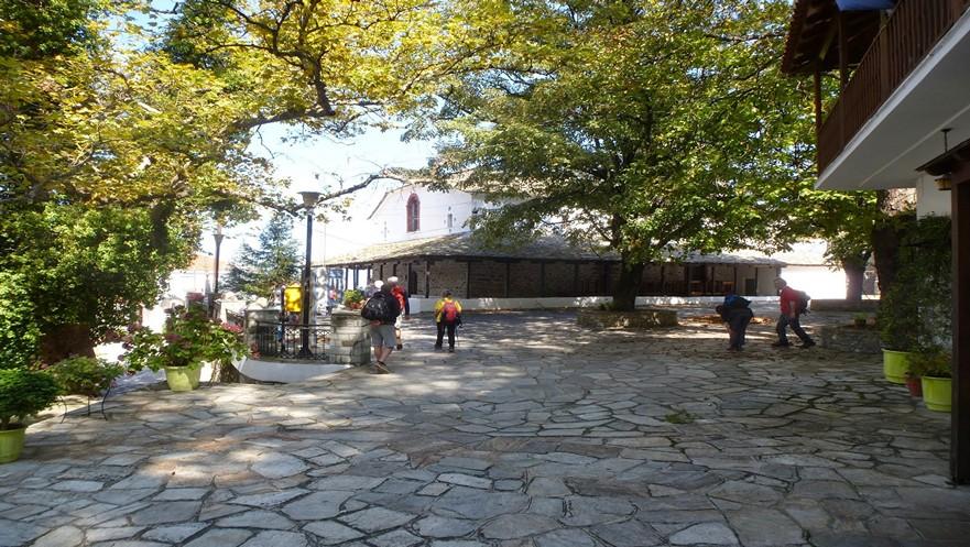 Central Square of Anilio in Pelion Greece