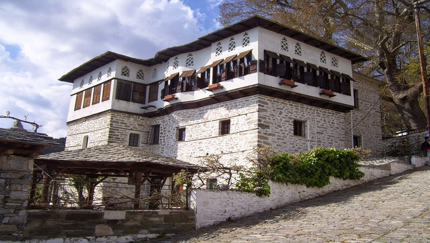 Traditional Architecture of Vyzitsa in Pelion Greece