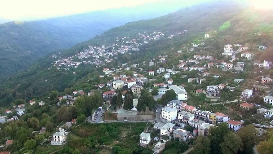 Το χωριό της Ζαγοράς με τις 4 συνοικίες Πήλιο