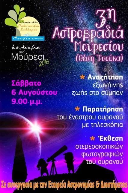 Stargazing in Agios Ioannis Mouresi Pelion Greece